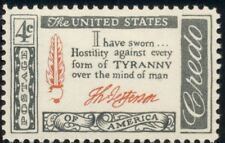 #1141 4¢ Thom. Jefferson Signature Credo Lot 400 Mint Stamps Spice Your Mailings
