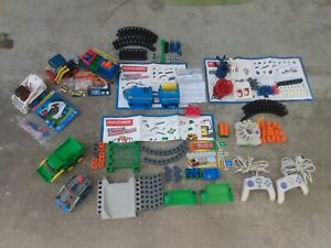 ROKENBOK Lot RC Trucks,Crane, Momorail, Sweeper, accessories, controllers AS IS