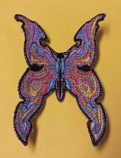 BUTTERFLY EMROIDERED LADIES BIKER PATCH