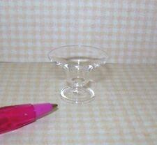 Miniature Elegant Glass Fruit Bowl (LARGE): DOLLHOUSE Miniatures 1:12 Scale