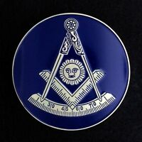 Masonic Past Master Car Auto Emblem (Dark Blue) PMA-2