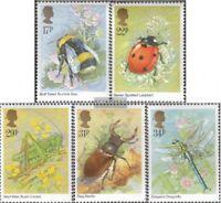 Großbritannien 1022-1026 (kompl.Ausg.) postfrisch 1985 Insekten