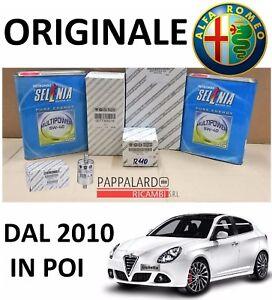 KIT TAGLIANDO FILTRI + OLIO SELENIA + FILTRO GAS ALFA ROMEO GIULIETTA 1.4 GPL