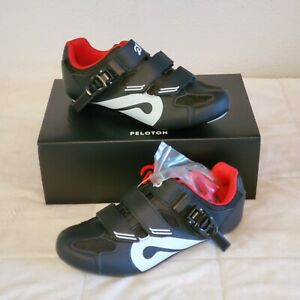 PELOTON Cycling Spin SHOES Size 39 W/ Cleats Unisex WOMEN'S 7.5 - 8.5 Black