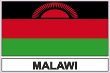 Autocollant sticker drapeau  MAL malawi