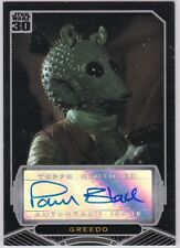 STAR WARS TOPPS 30TH ANNIVERSARY PAUL BLAKE AS GREEDO AUTOGRAPH