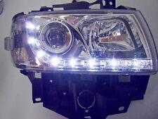 VW T4 LED Tagfahrlicht Optik Scheinwerfer Chrom Langer Vorderwagen 96-03 SWV31GX