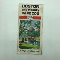 Boston and Vicinity Cape Cod - Esso Touring Map - 1968