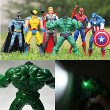6x Action Figures Hulk Thor Batman Spider-Man Wolverine Captain America Kids Toy