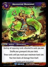 WORLD OF WARCRAFT WOW TCG REIGN OF FIRE : ANCESTRAL RENEWAL X 4