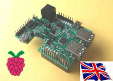 Rs-Pi internal 4 USB Hub - I2C A/D D/A 1-Wire Board for Raspberry Pi