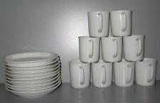 RICHARD Ginori Pure White Demitasse Cup Saucer Set for 9 Mint