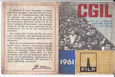 TESSERA CGIL FILP SINDACATO PORTUALE DI SAVONA 1961 1-265