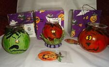 Blue Sky Clayworks 2004 Halloween Three Glass Lanterns Retired Heather Goldminc