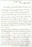# 1832 JAMES FENN SIGNED LETTER EX BANK OF ENGLAND CONSOL OFFICE TO BASINGSTOKE