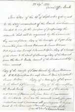 1832 JAMES FENN SIGNED LETTER EX BANK OF ENGLAND CONSOL. OFFICE TO BASINGSTOKE
