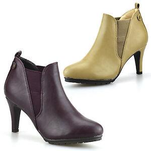 Ladies Womens New High Heel Slip On Chelsea Booties Ankle Biker Boots Shoe Size