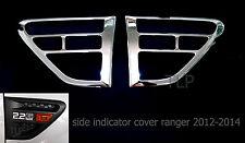 CHROME SIDE VENT INDICATOR COVER TRIM FOR FORD RANGER PX XLT PICKUP UTE 2012-14