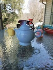 TEAPOT TEA POT PERIWINKLE FIESTA WARE LARGE 44 OZ. NEW
