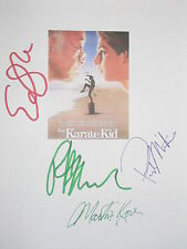 The Karate Kid Signed Movie Script X4 Ralph Macchio Elisabeth Shue Kove reprint