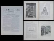L'ARCHITECTURE N°48 1900 - ART NOUVEAU, PARFUMERIE, FRANTZ JOURDAIN, HANKAR