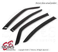 For Suzuki SX4 2008-2010 Outside-Mounted Dark Smoke JDM Window Visors 4pcs