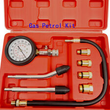 Gas Petrol Engine Gauge Kit & Cylinder Compression Gauge Tester For Car/Motorcyc