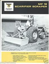 Equipment Brochure - Massey Ferguson - Mf 18 - Scarifier Scraper c1968 (E2596)