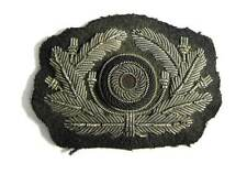 WW2 German Army Officers Aluminium Bullion Heer Cap Wreath Cockade Visor Aged