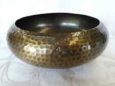 "Arts & Crafts Roycroft Hammered Copper Bowl in original Brass finish 6.5"""