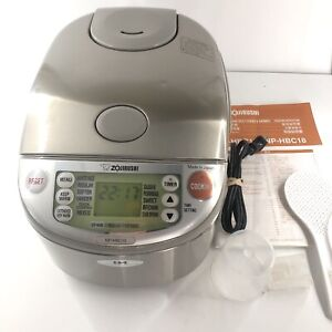 ZOJIRUSHI NP-HBC10 Induction Heating System Rice Cooker/Warmer 5.5 Cup Tested