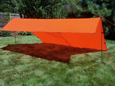 Bear Paw Wilderness Designs 10 x 10 Silnylon Blaze Orange Tarp