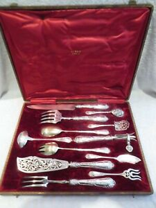 magnificent 1900 french 950 silver 12 serving pieces rococo st H Soufflot