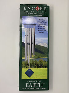 """WOODSTOCK ENCORE COLLECTION WIND CHIMES OF EARTH Blue 37"""""""
