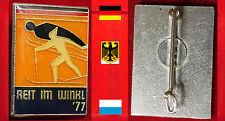 WINTERSPORT SKI NORDISCH ABZ.  INT. NORDISCHE SKI WETTKÄMPFE REIT IM WINKL 1977