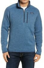 PATAGONIA Men's Blue Better Sweater 1/4 Zip Fleece Jacket Pullover! Size L