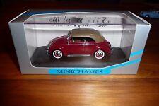 Minichamps VW Kafer 1200 Cabrio 1951/52 rot mit braunem Softtop in OVP