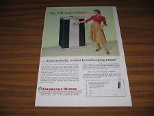 1957 Print Ad Fairbanks-Morse Water Softeners Chicago,IL