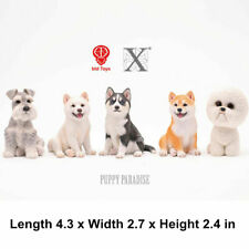 JXK Cute Dog Pet Huskie Shiba Inu Bichon Schnauzer Figure Animal Toy Collector