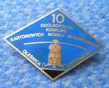 10th NATIONAL POLAND CONTEST CONTROL LINE MODEL FLYING AIRPLANE 1992 PIN BADGE