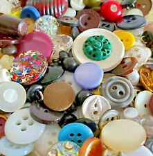 Vintage Antique Buttons Mixed Lot Sewing Small Large Color Plastic Glass Shape