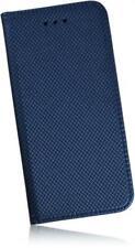 """Apple iPhone 7/4, 7"""" funda PU bolsa de piel cuadernillo carbon efecto funda azul"""