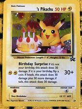 Happy Birthday Pikachu Black Star Promo #24 Holo Pokemon Card 2000 WOTC NM