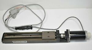 """THK KR33 LM Linear Actuator KR - 9"""" Travel w/ Parker S57-102-MO Motor - Cable"""