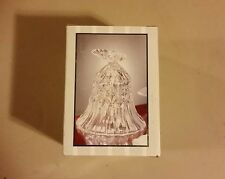 """New in box-""""Crystal Clear Industries"""" lead crystal bell w/butterfly, 4"""" tall."""