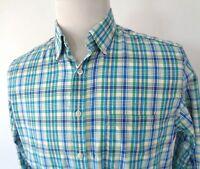 Charles Tyrwhitt Weekend Medium Slim Fit Shirt Button Up Plaid Multi Color LS