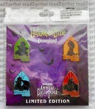 Disney Pin DLR Halloweentime 2012 Annual Passholder Villains Set