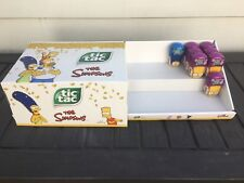 Simpsons Tic Tacs and Store Display 2018 LIMITED EDITION 8 Packages Total RARE