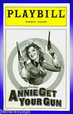 Playbill + Annie Get Your Gun + Bernadette Peters , Tom Wopat , Peter Marx