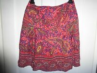 CACHAREL SIZE 10 30W 19L PRETTY FLORAL SILK LINED SKIRT VGC